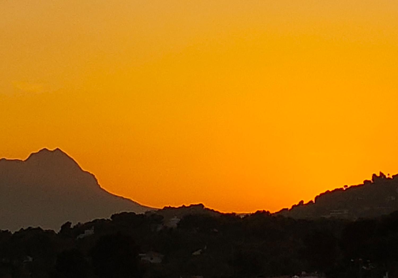 moraira sunset